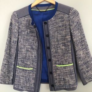 Elie Tahari - Blue Tweed Blazer with POP!